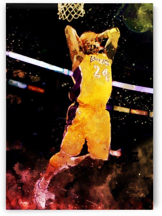 Kobe bryant by artwork poster