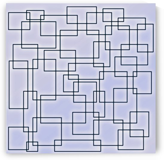 Linked Billowy Blue Squares by Leslie Montgomery