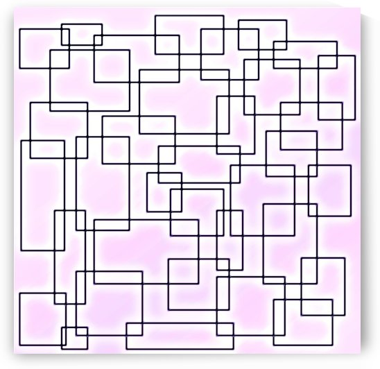 Linked Pretty Pink Glowing Squares by Leslie Montgomery