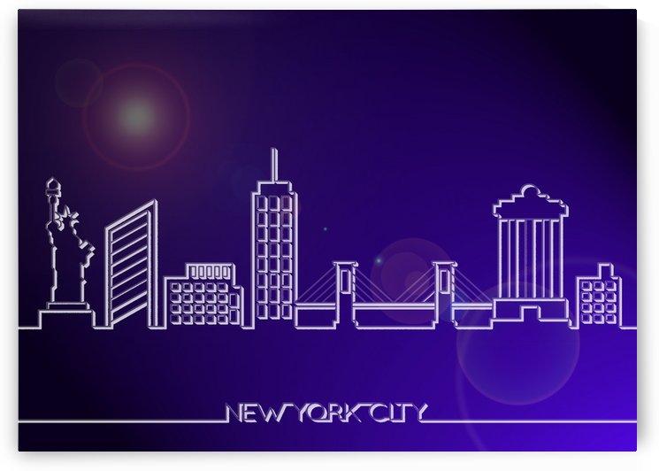 Skyline Bluprint Light of New York City by Gunawan Rb