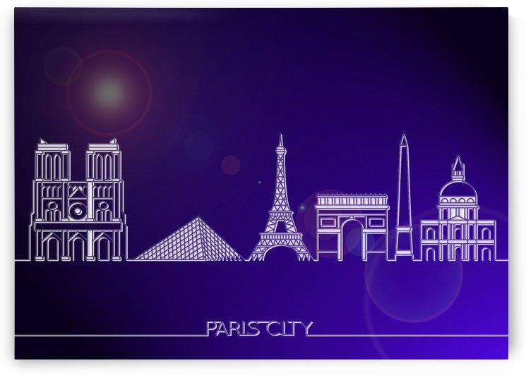 Skyline Bluprint Light of Paris City by Gunawan Rb
