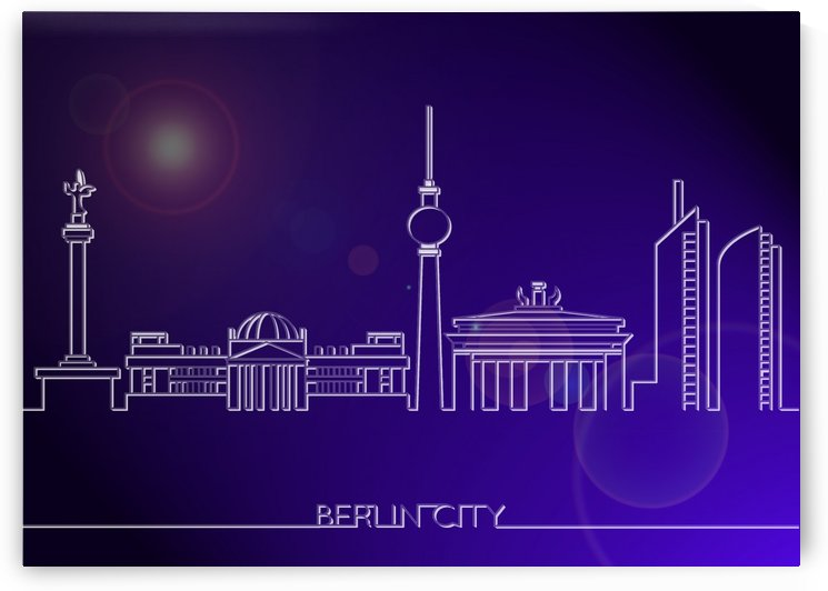 Skyline Bluprint Light of Berlin City by Gunawan Rb