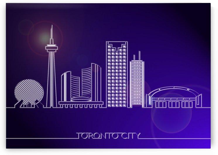Skyline Bluprint Light of Toronto City by Gunawan Rb