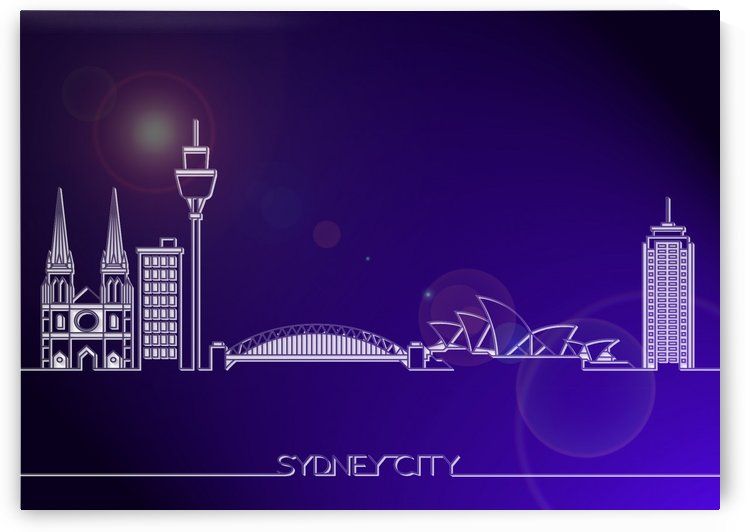 Skyline Bluprint Light of Sydney City by Gunawan Rb