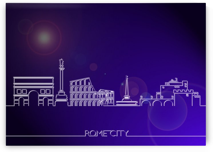 Skyline Bluprint Light of Rome City by Gunawan Rb
