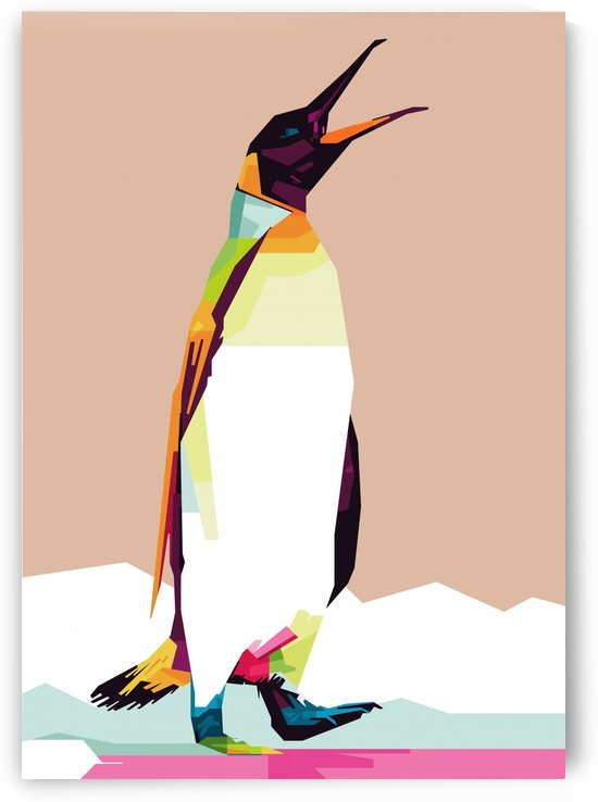 Penguin by artwork poster