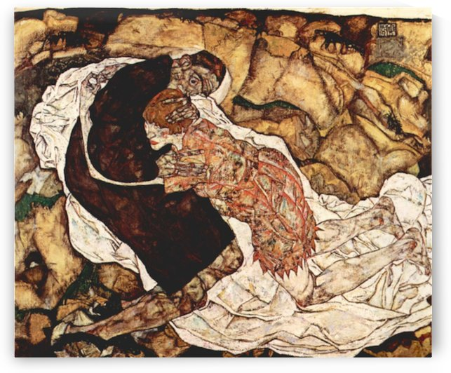 Death and the Woman by Schiele by Schiele