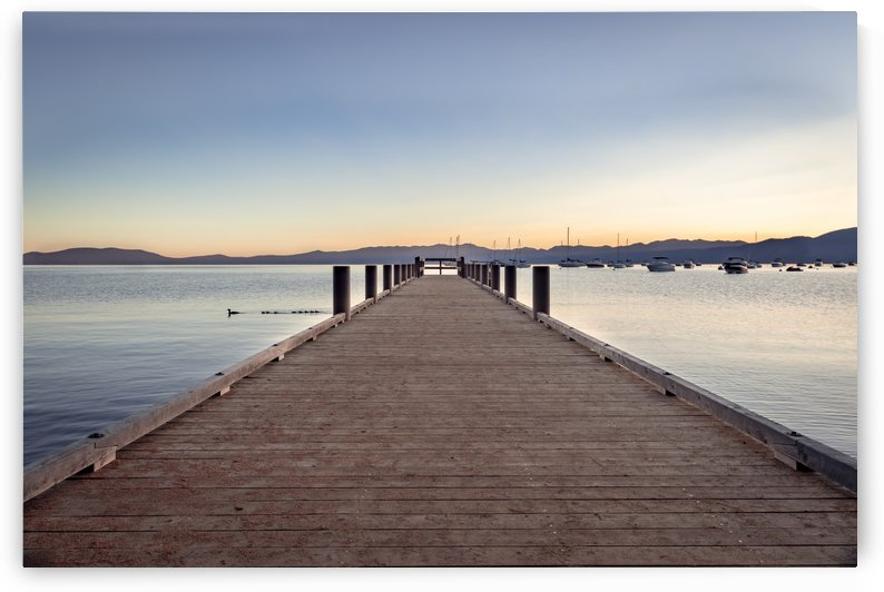 Tahoe Sunrise at Dock by Gary Geddes