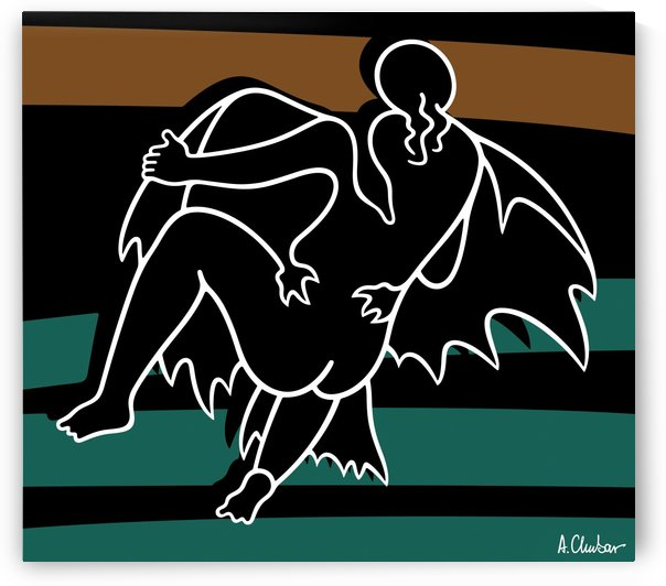 Leda and the Swan by Alexander Chubar
