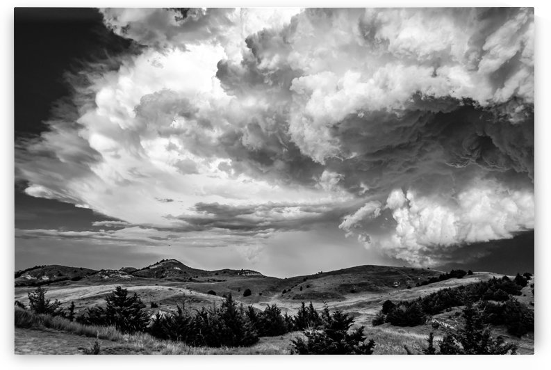 Big Mouth Thunderstorm.BW by Garald Horst