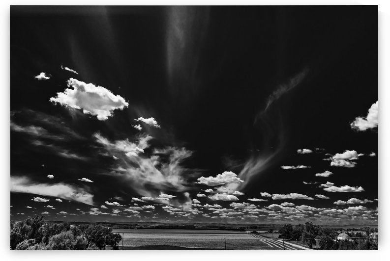Cloud Level Snow Showers.BW by Garald Horst