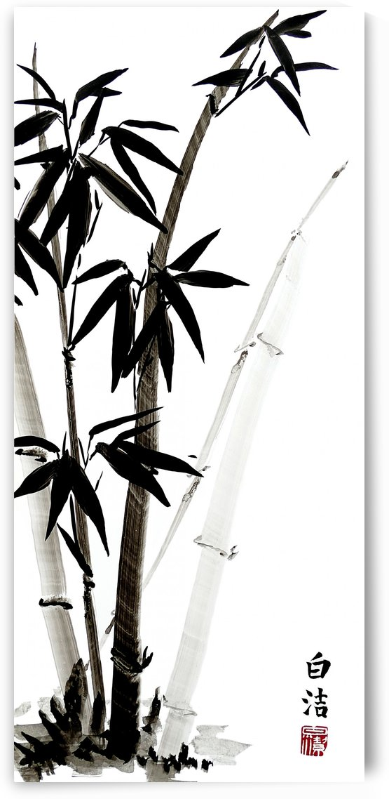 Black Bamboo - Ink by Birgit Moldenhauer