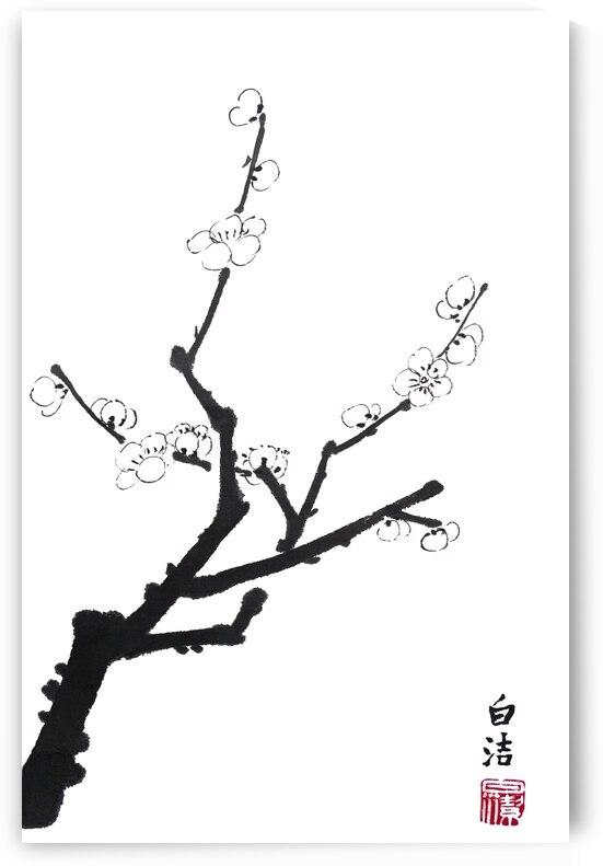 Little Plum Blossom Twig by Birgit Moldenhauer