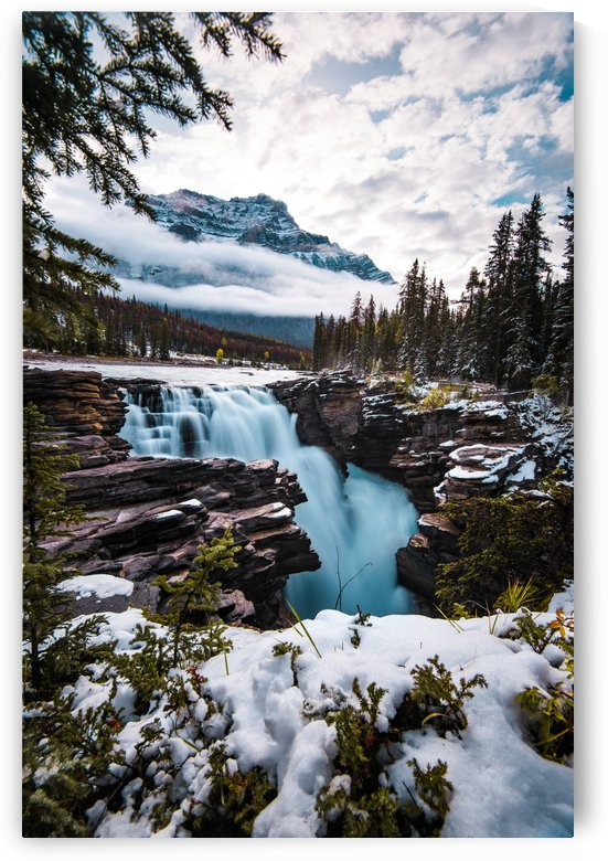 Wintry Waterfall by Lucas Moore