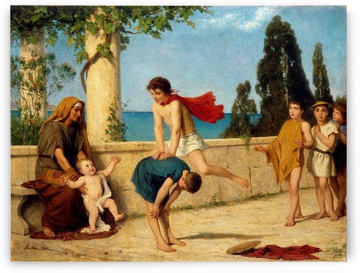 Children playing by Frederick Arthur Bridgman