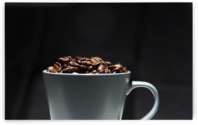 Grey Mug full Roasted coffee beans by Downundershooter