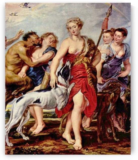 Diana with nymphs by Rubens by Rubens