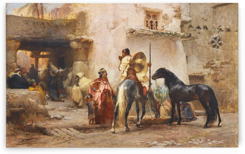 Fontaine devant la mosque by Frederick Arthur Bridgman