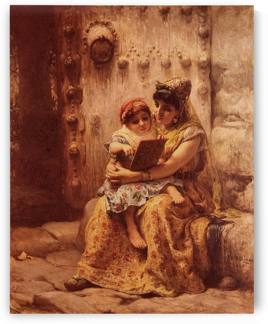 The Reading Lesson by Frederick Arthur Bridgman