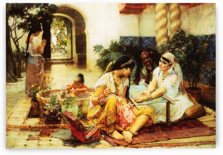 In a village by Frederick Arthur Bridgman