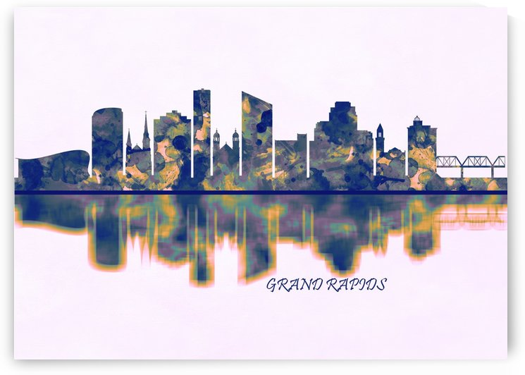 Grand Rapids Skyline by Towseef