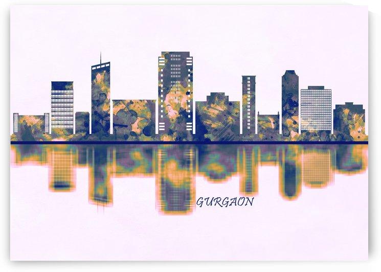 Gurgaon Skyline by Towseef Dar
