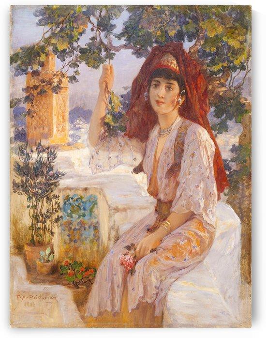 Jeune femme Tlemcen by Frederick Arthur Bridgman