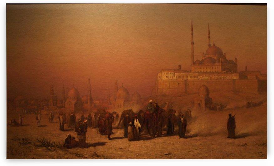 Cairo citadel mosque by Frederick Arthur Bridgman