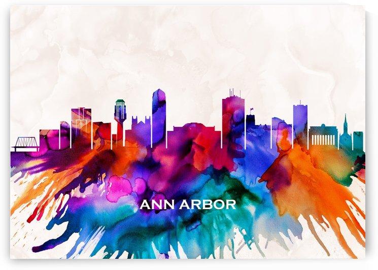 Ann Arbor Skyline by Towseef Dar