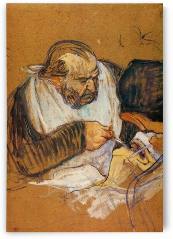 Doctor Pean operates by Toulouse-Lautrec by Toulouse-Lautrec
