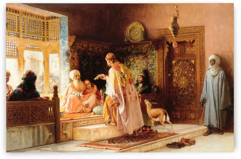 The messenger by Frederick Arthur Bridgman
