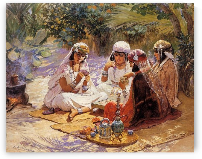 The Card Players by Frederick Arthur Bridgman