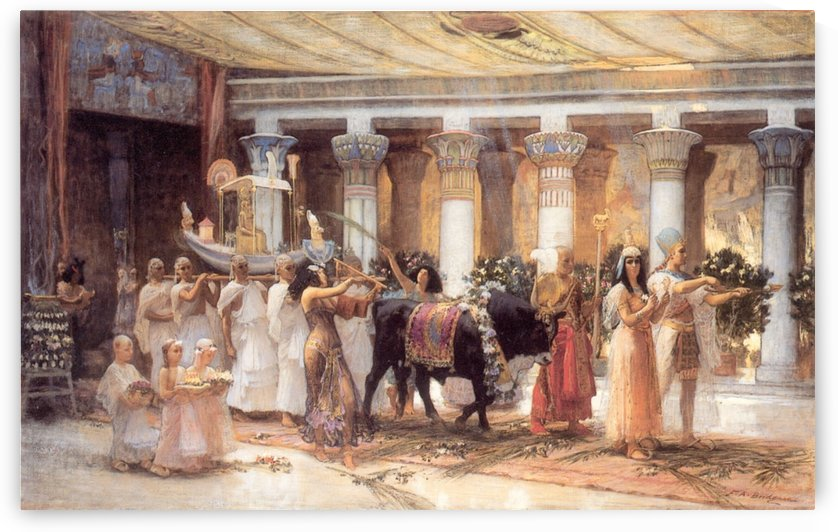 The Procession of the Sacred Bull Anubis by Frederick Arthur Bridgman