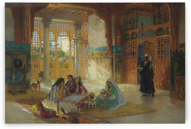 Women sewing by Frederick Arthur Bridgman