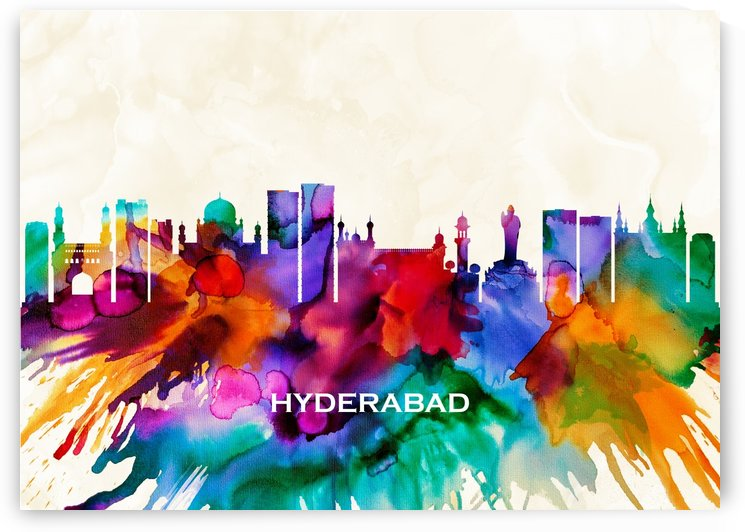 Hyderabad Skyline by Towseef