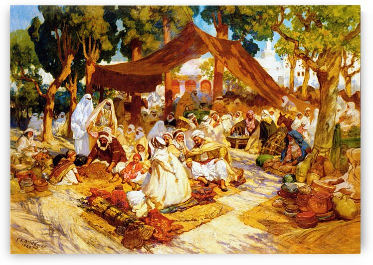 North african encampment by Frederick Arthur Bridgman