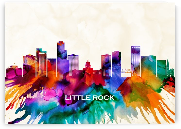 Little Rock Skyline by Towseef