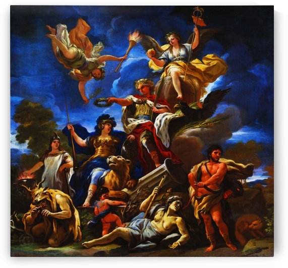 Allegory of Fortitude by Luca Giordano by Classic Painting