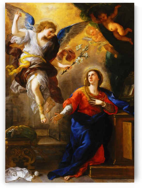 The Annunciation by Luca Giordano    by Classic Painting