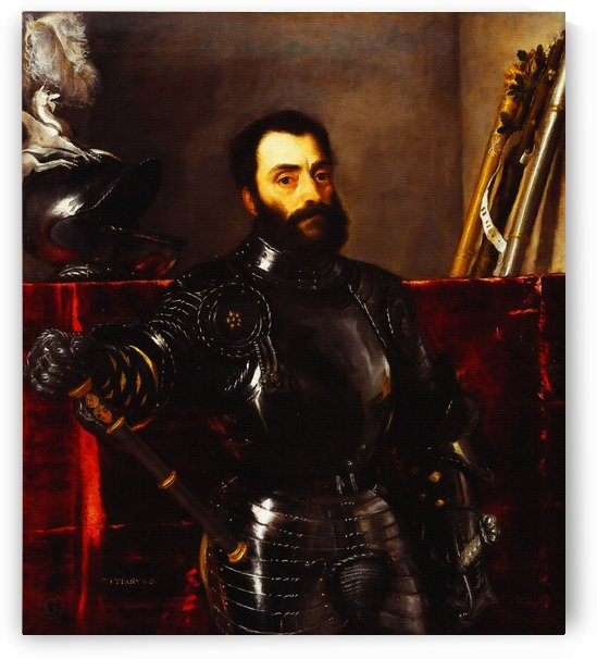 Portrait of Francesco Maria della Rovere by Titian by Classic Painting
