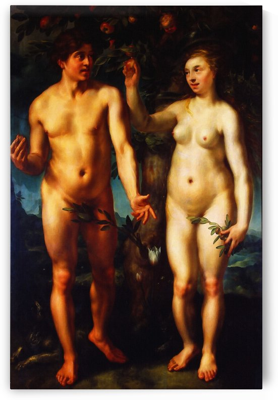 Adam and Eve Fall of Man by Hendrick Goltzius by Classic Painting