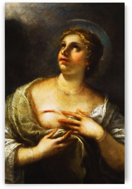 Santa Agueda by Luca Giordano  by Classic Painting