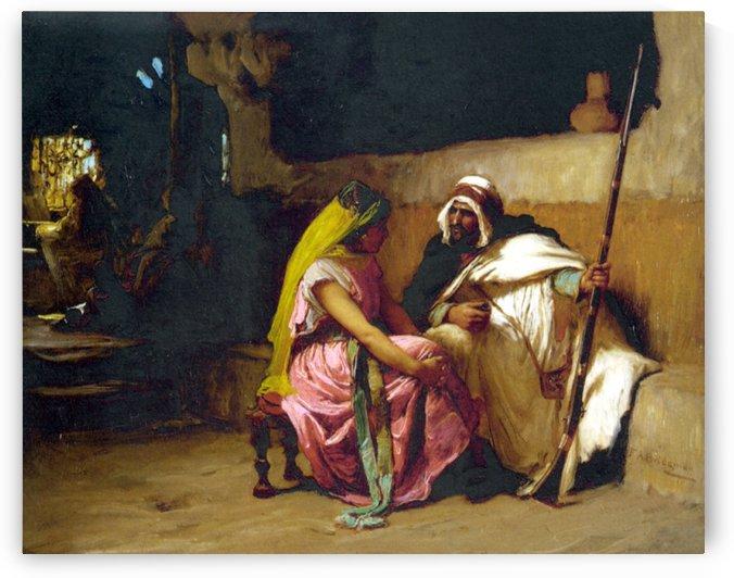 Tete a tete by Frederick Arthur Bridgman