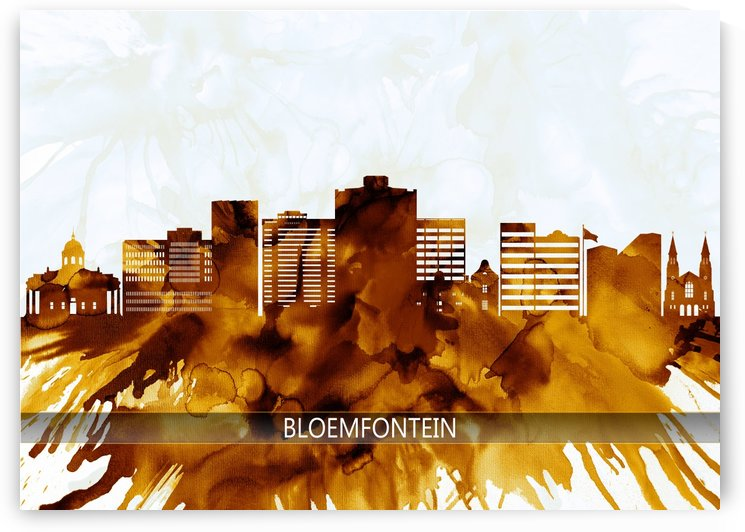 Bloemfontein South Africa Skyline by Towseef