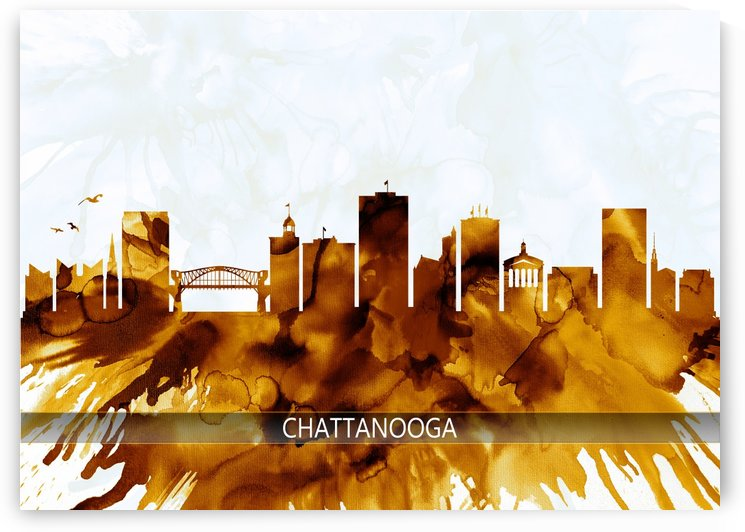 Chattanooga Tennessee Skyline by Towseef