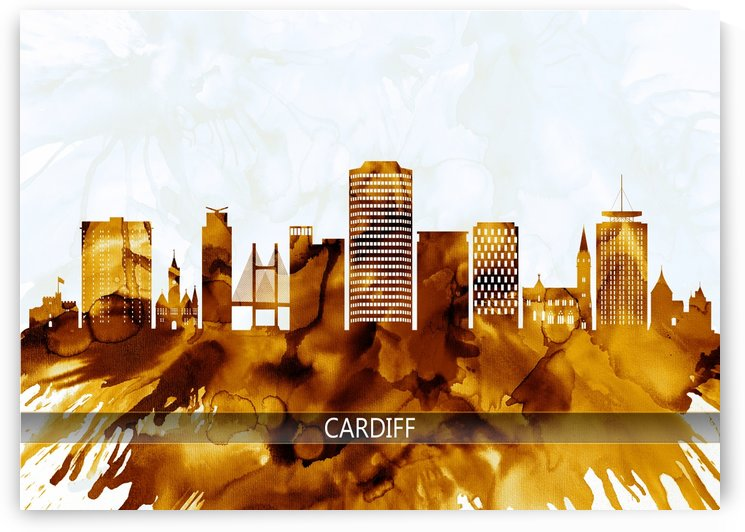 Cardiff Wales Skyline by Towseef