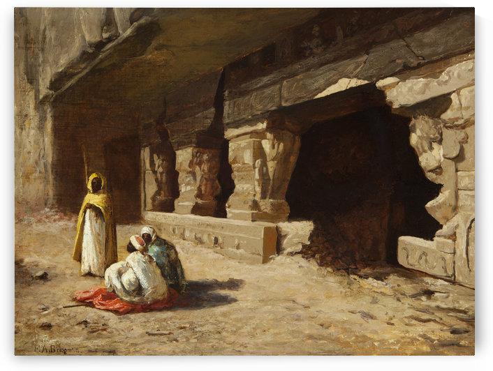 Arab Street Scene by Frederick Arthur Bridgman