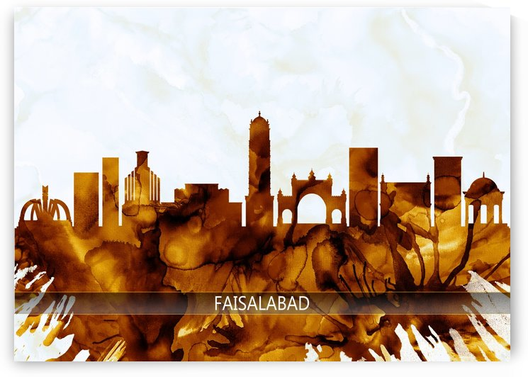 Faisalabad Pakistan Skyline by Towseef