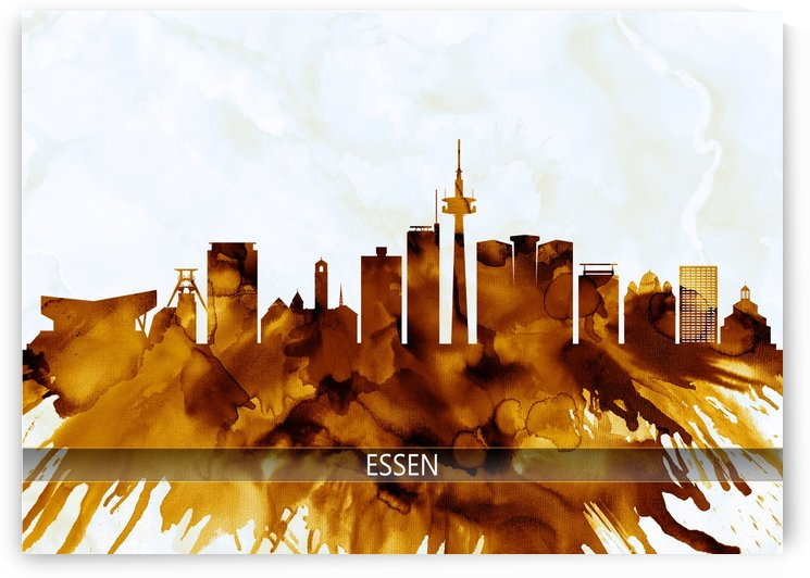 Essen Germany Skyline by Towseef Dar