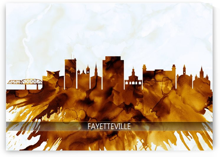 Fayetteville North Carolina Skyline by Towseef